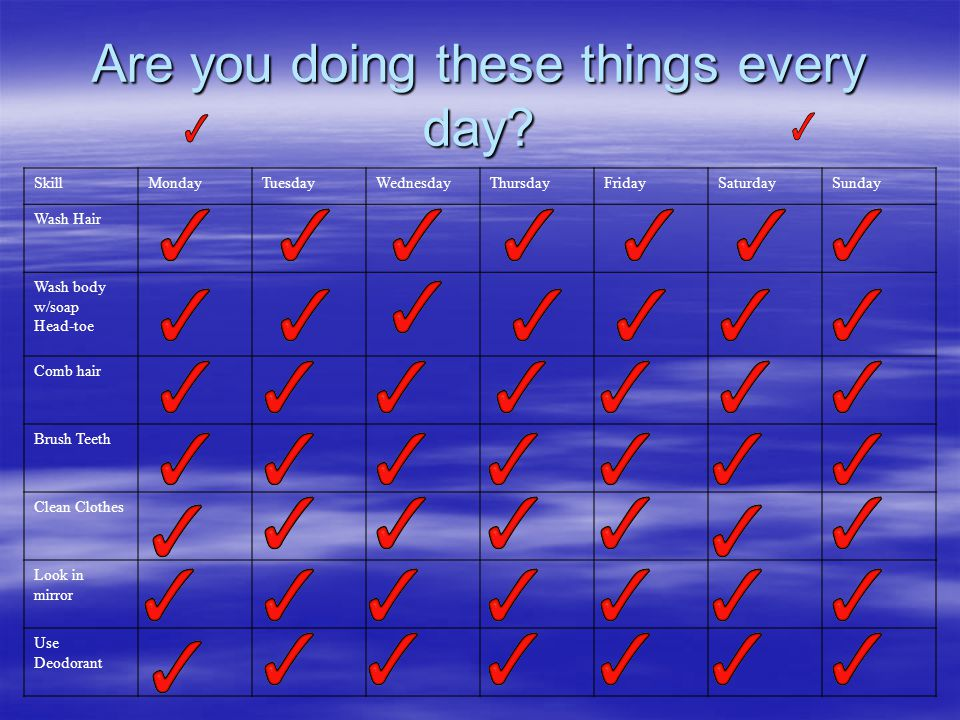 Are you doing these things every day.
