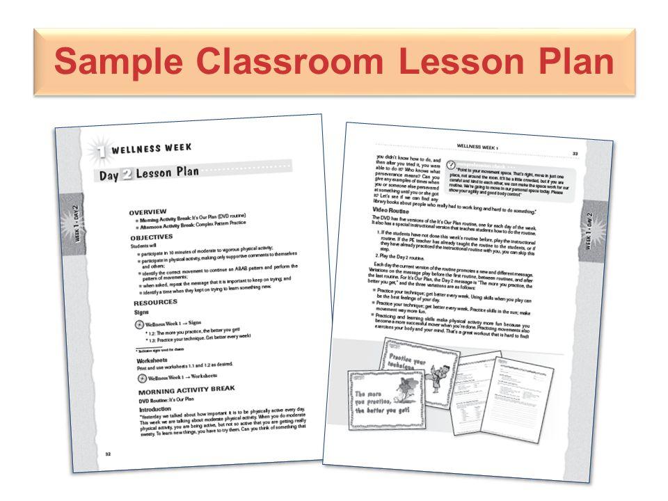 Sample Classroom Lesson Plan