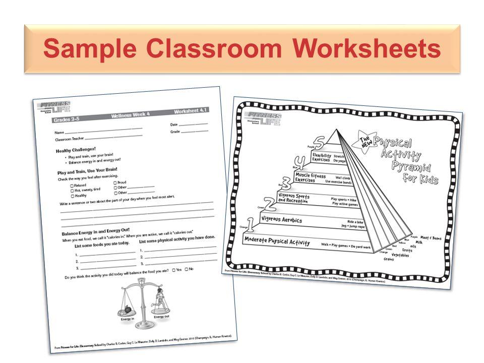 Sample Classroom Worksheets