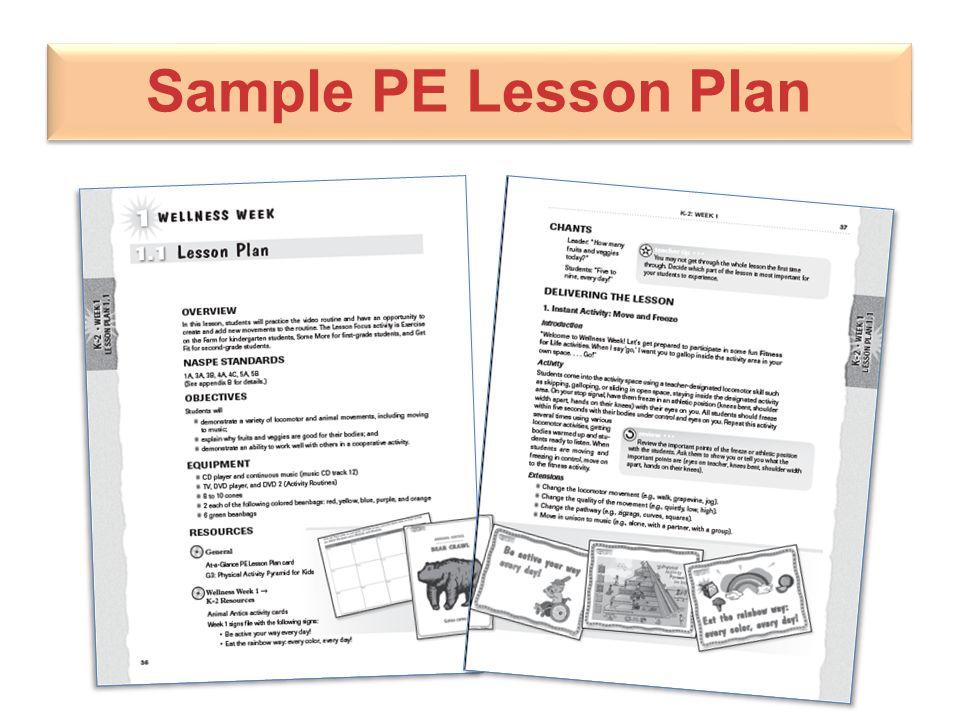 Sample PE Lesson Plan