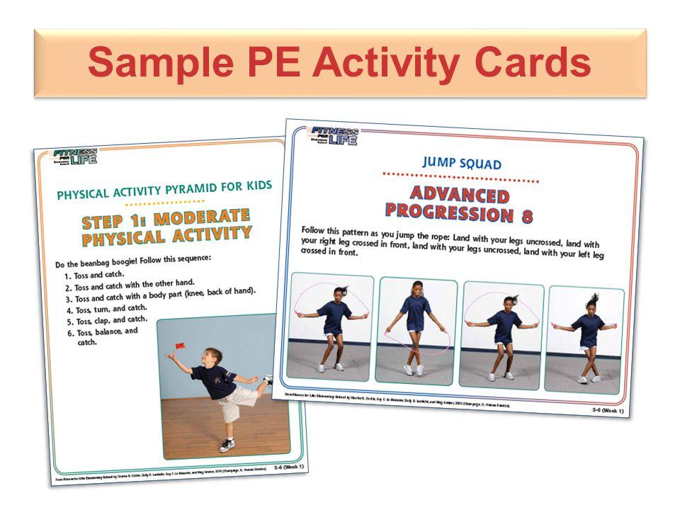 Sample PE Activity Cards