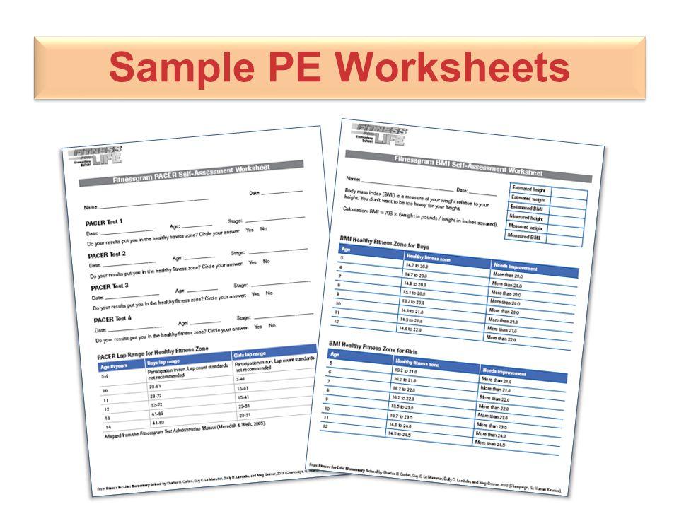 Sample PE Worksheets