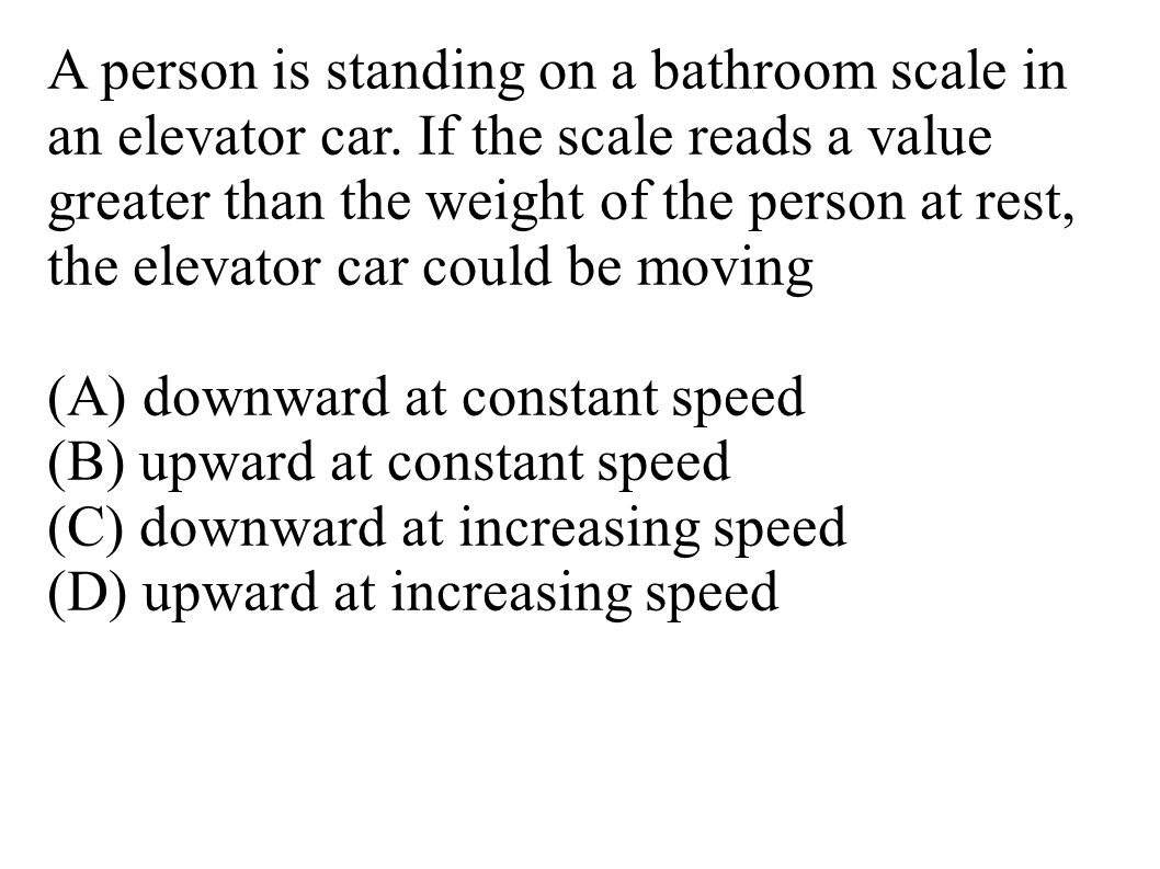A person is standing on a bathroom scale in an elevator car.
