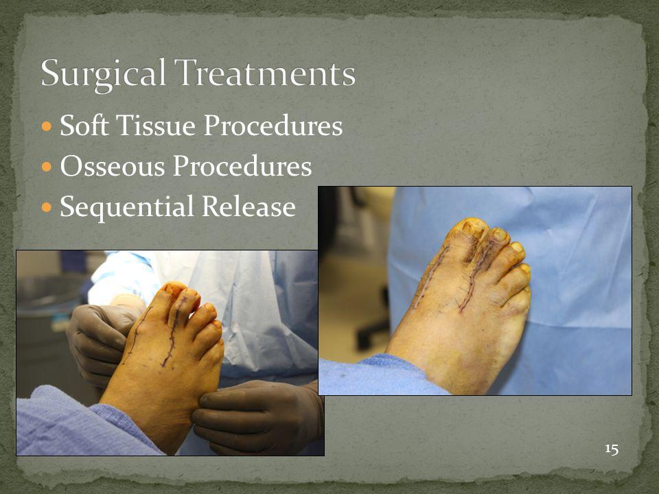 Soft Tissue Procedures Osseous Procedures Sequential Release 15