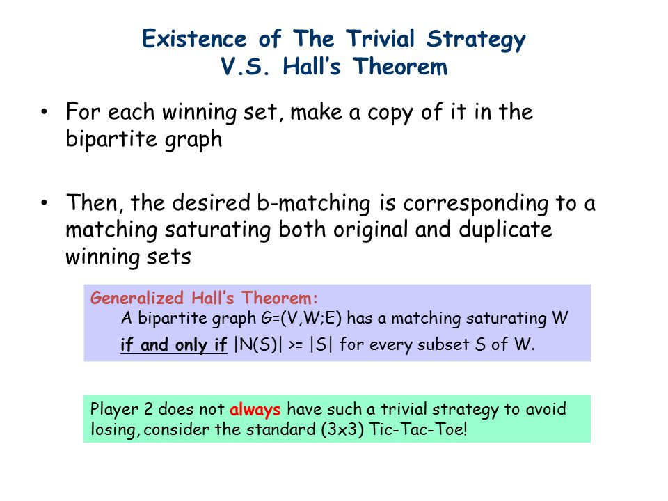 Existence of The Trivial Strategy V.S.