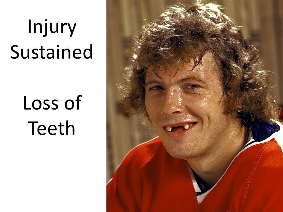 Injury Sustained Loss of Teeth