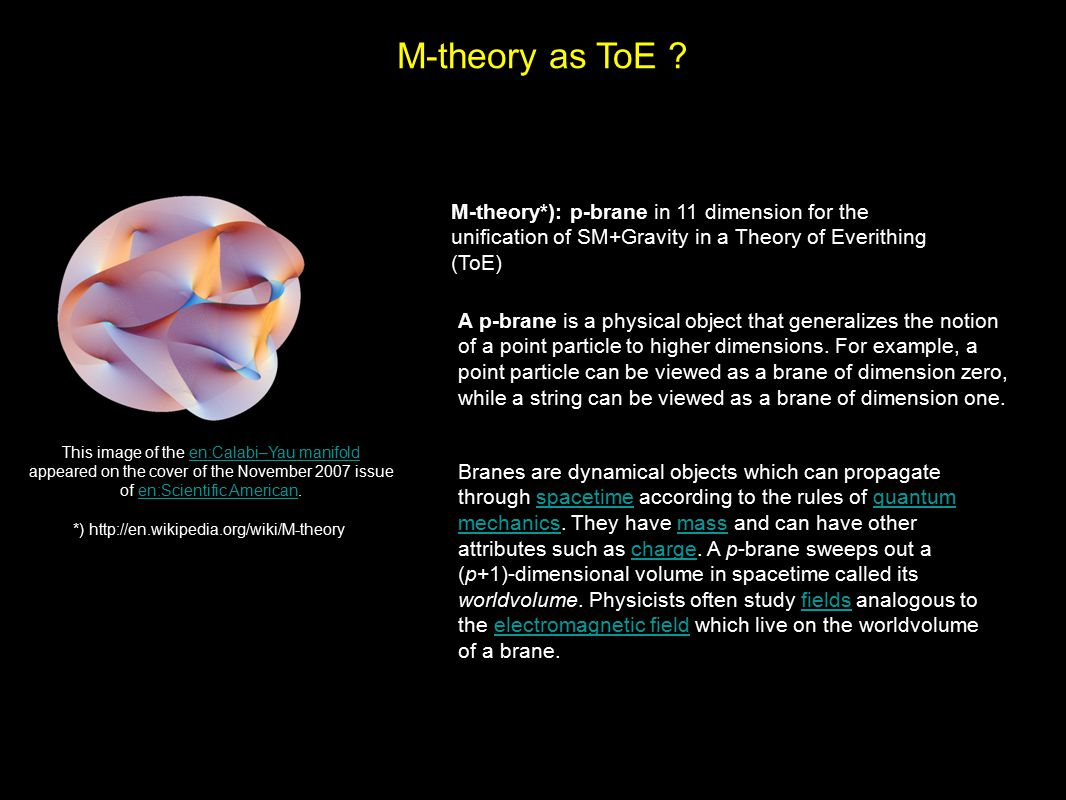 M-theory as ToE .