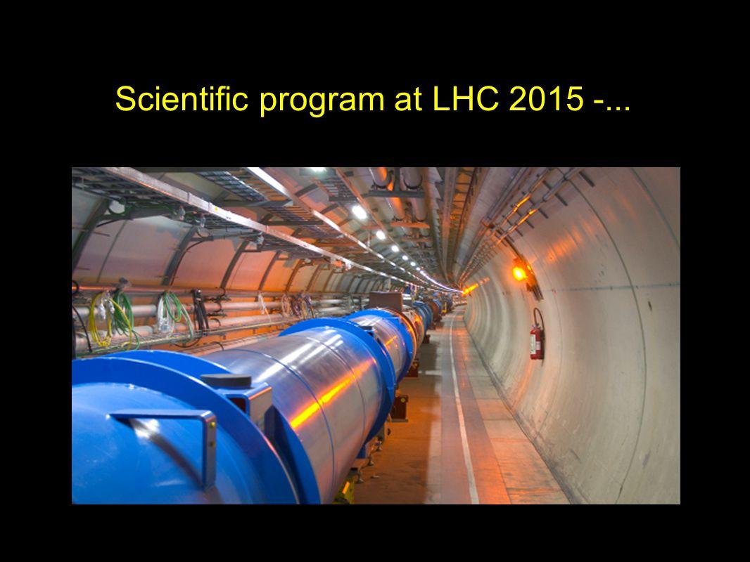 Scientific program at LHC 2015 -...