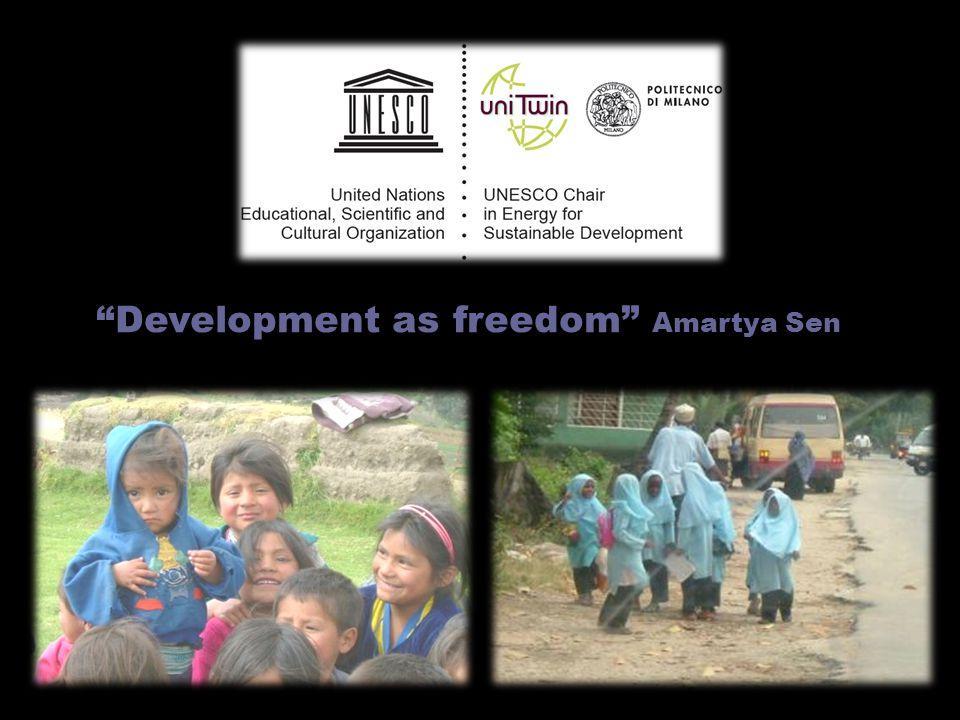 Emanuela Colombo - POLIMI Development as freedom Amartya Sen
