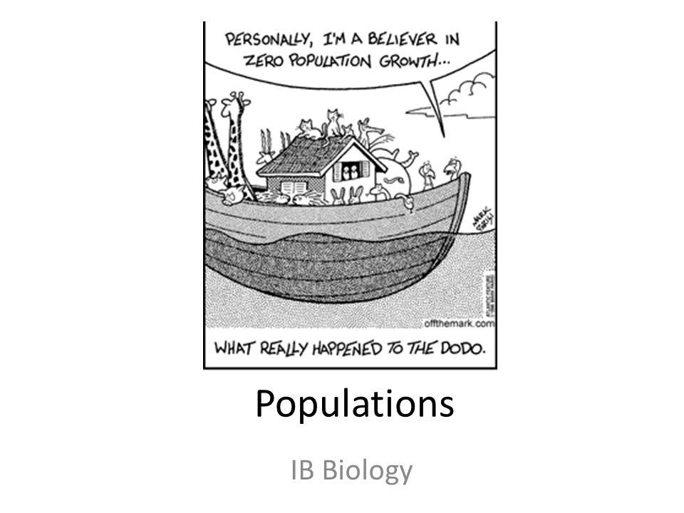 Populations IB Biology