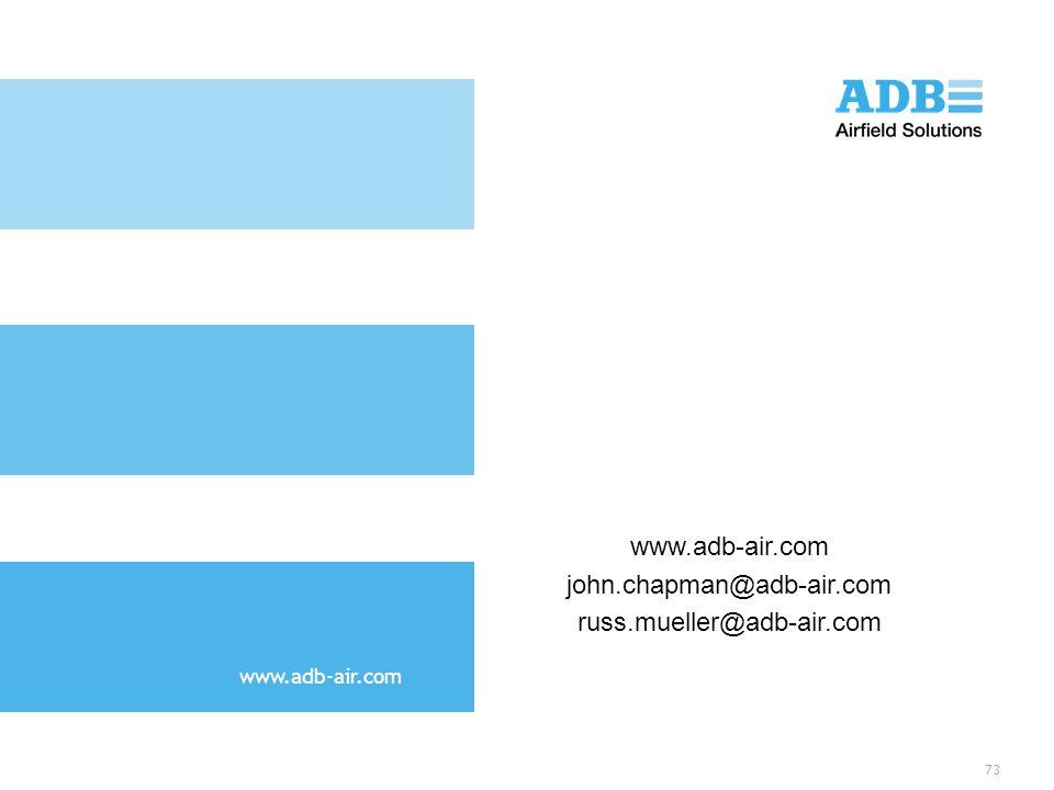 www.adb-air.com john.chapman@adb-air.com russ.mueller@adb-air.com 73