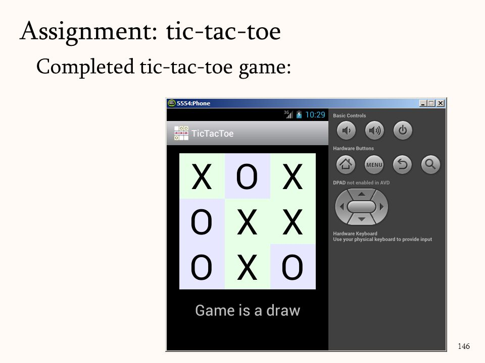 Completed tic-tac-toe game: Assignment: tic-tac-toe 146