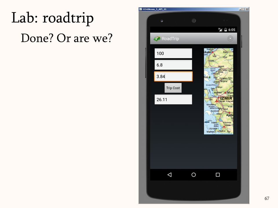 Done Or are we Lab: roadtrip 67
