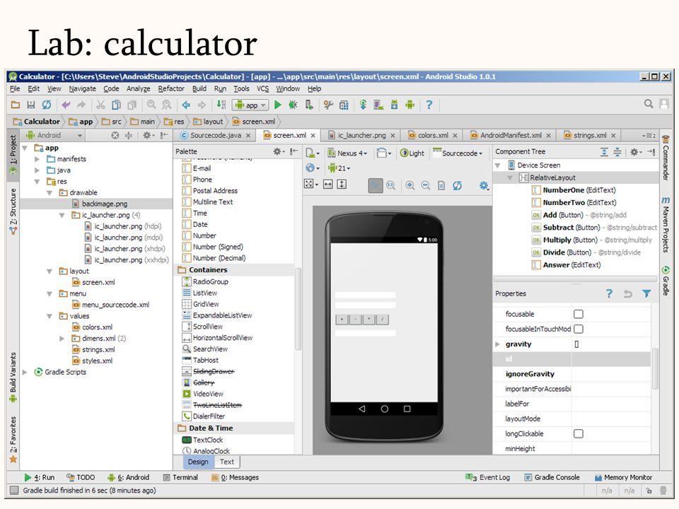 Lab: calculator 97