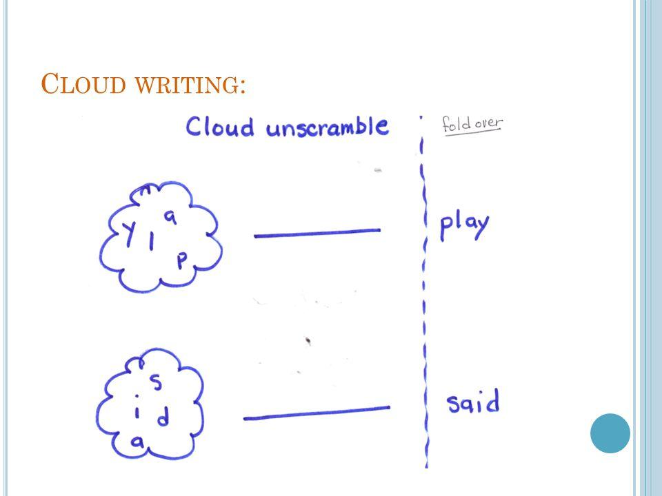 C LOUD WRITING :