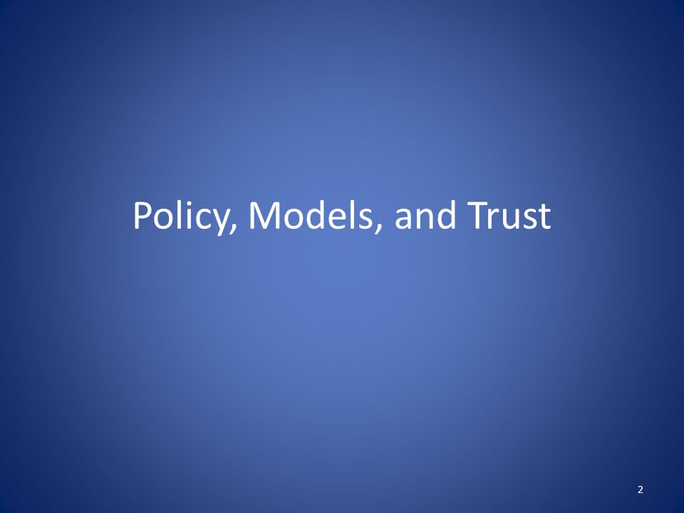 Security Policy A security policy is a well-defined set of rules that include the following: Subjects: the agents who interact with the system, which could be defined in terms of specific individuals or in terms of roles or ranks that groups of individuals might hold within an organization.