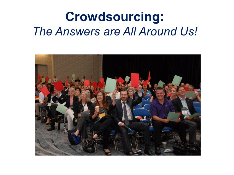 Crowdsourcing: The Answers are All Around Us!