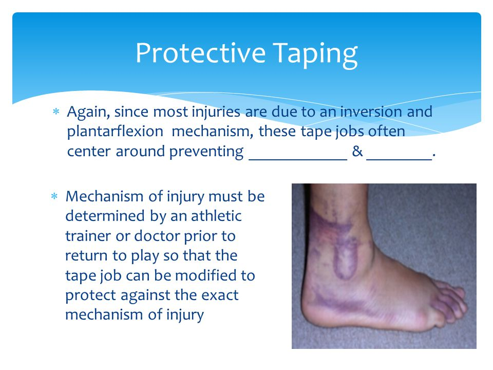 Again, since most injuries are due to an inversion and plantarflexion mechanism, these tape jobs often center around preventing ____________ & ________.