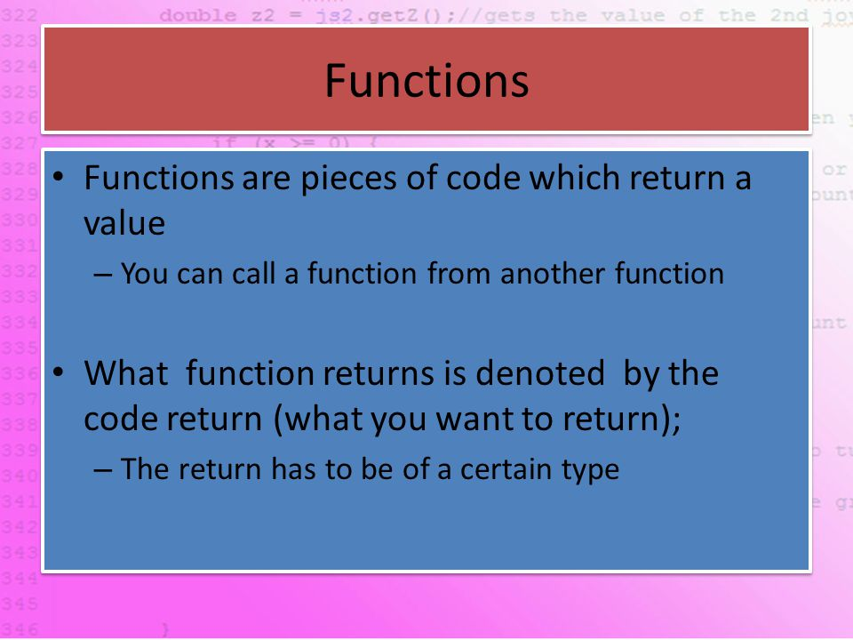 If Test for a condition – If it is true a block of code is executed, if it is not true the code is not executed.