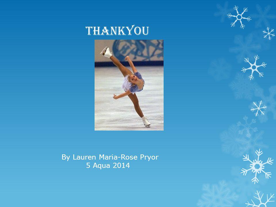 Thankyou By Lauren Maria-Rose Pryor 5 Aqua 2014
