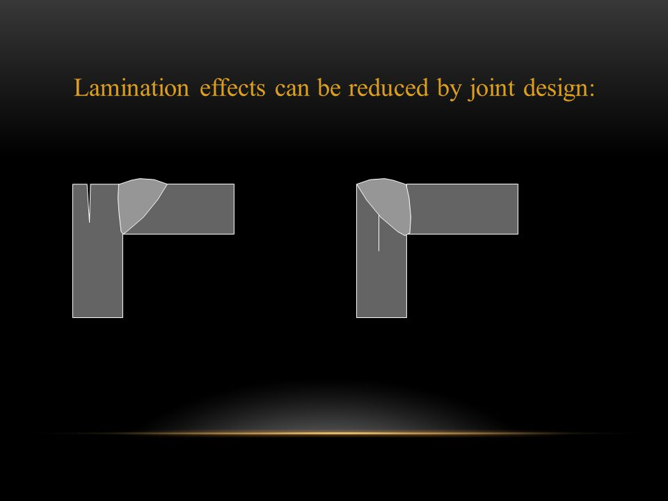 Lamination effects can be reduced by joint design: