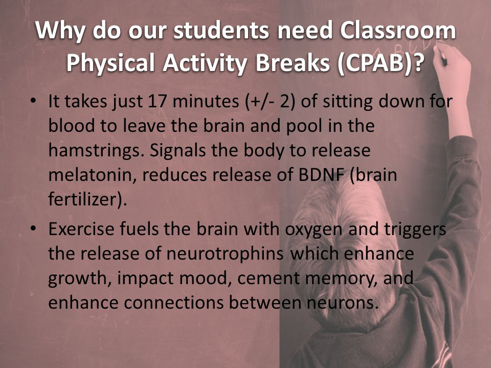 Why do our students need Classroom Physical Activity Breaks (CPAB).