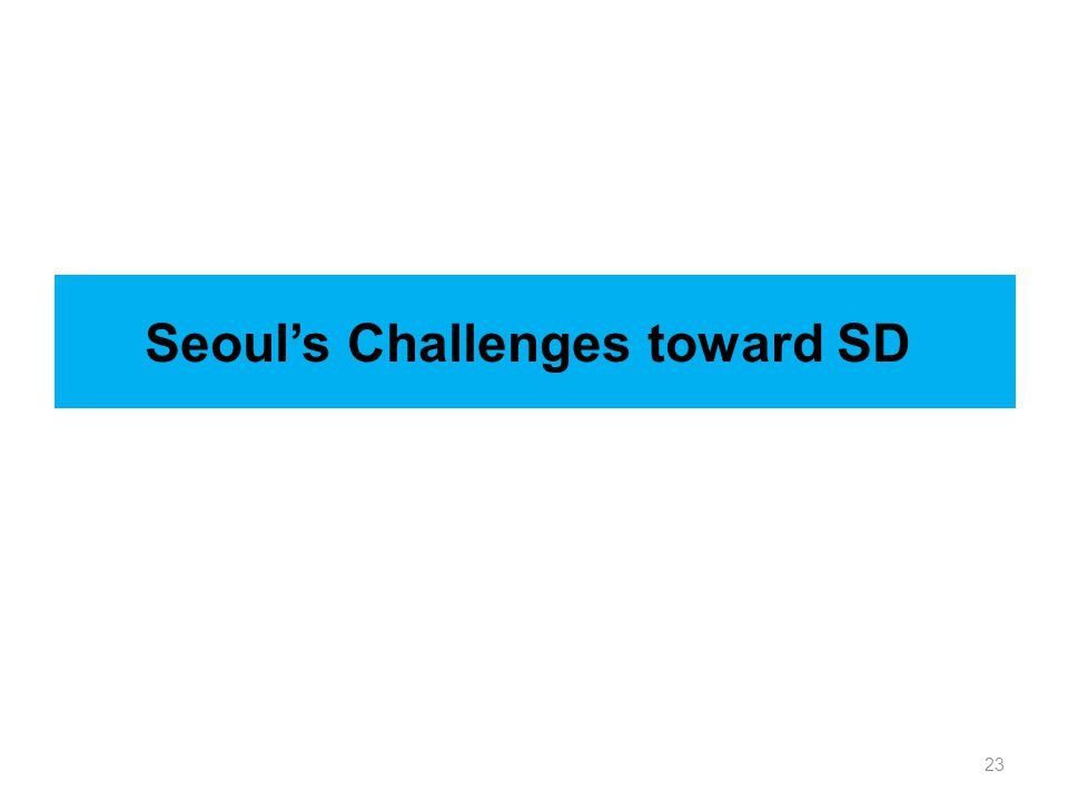 23 Seoul's Challenges toward SD