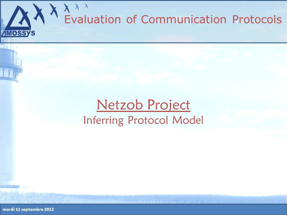 mardi 11 septembre 2012 Netzob Project Inferring Protocol Model Evaluation of Communication Protocols