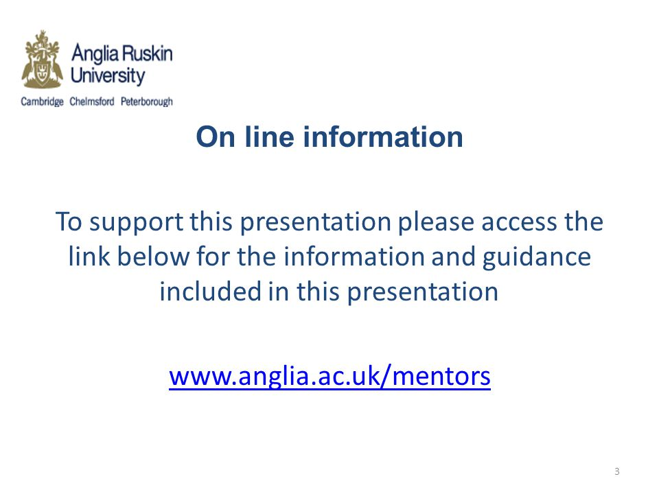 On line information To support this presentation please access the link below for the information and guidance included in this presentation www.angli