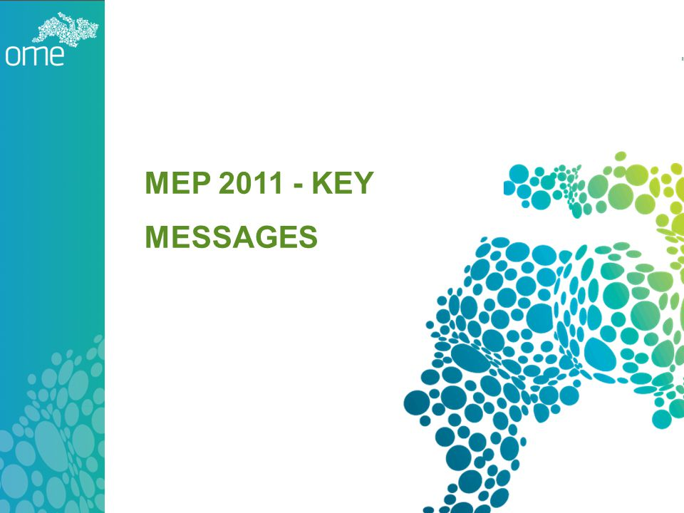 MEP 2011 - KEY MESSAGES