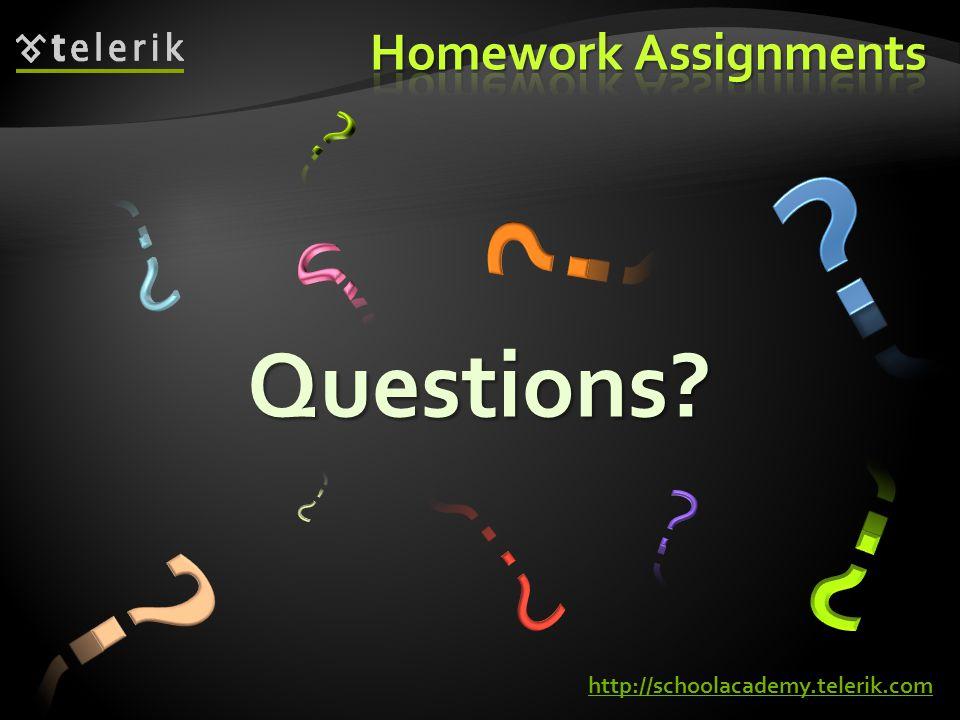 Questions? http://schoolacademy.telerik.com