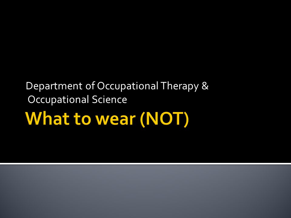 Department of Occupational Therapy & Occupational Science