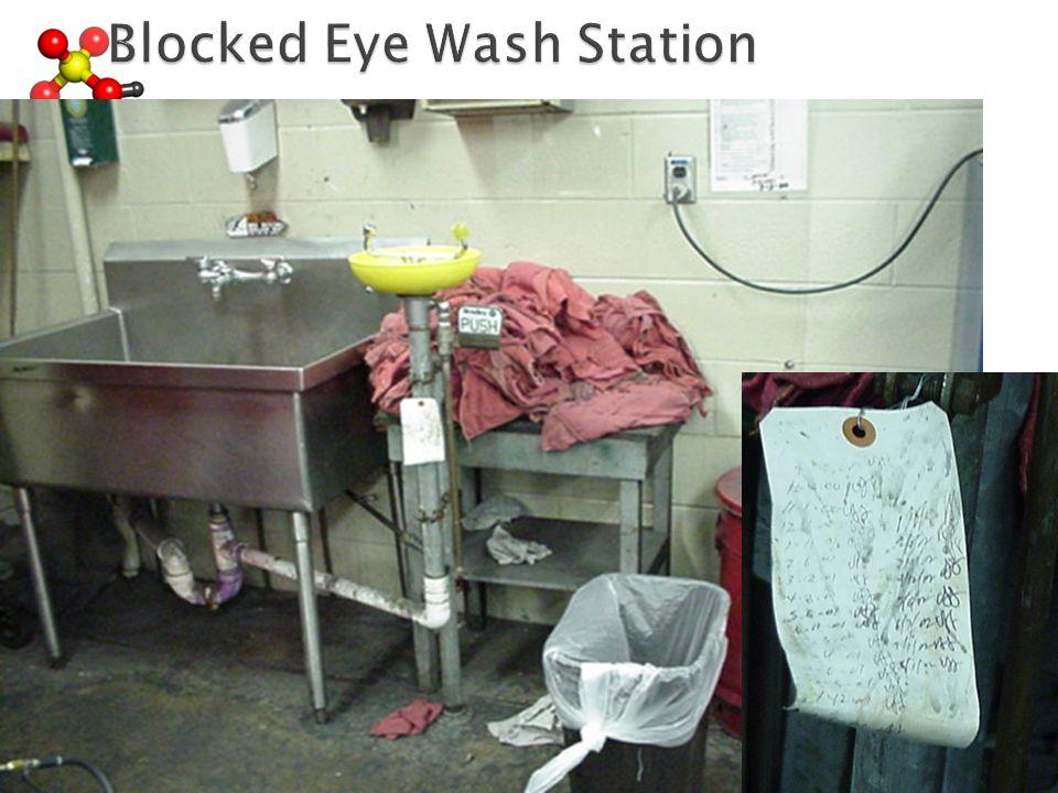 Blocked Eye Wash Station Blocked Eye Wash Station