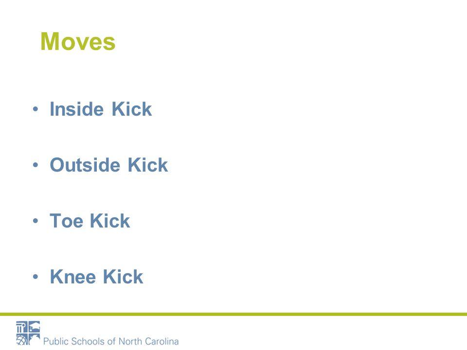 Moves Inside Kick Outside Kick Toe Kick Knee Kick