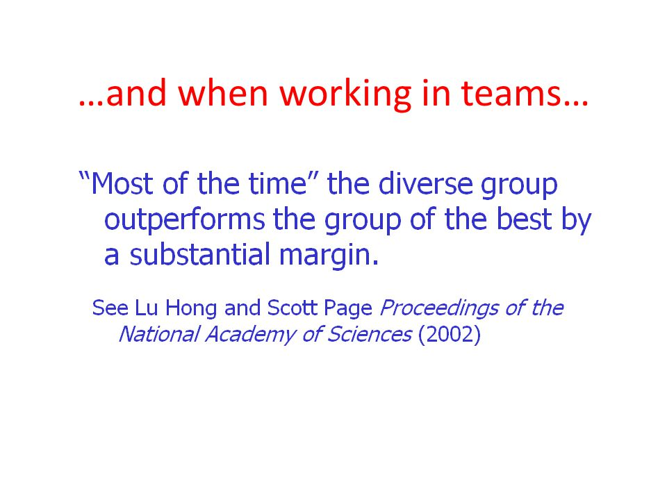 …and when working in teams…