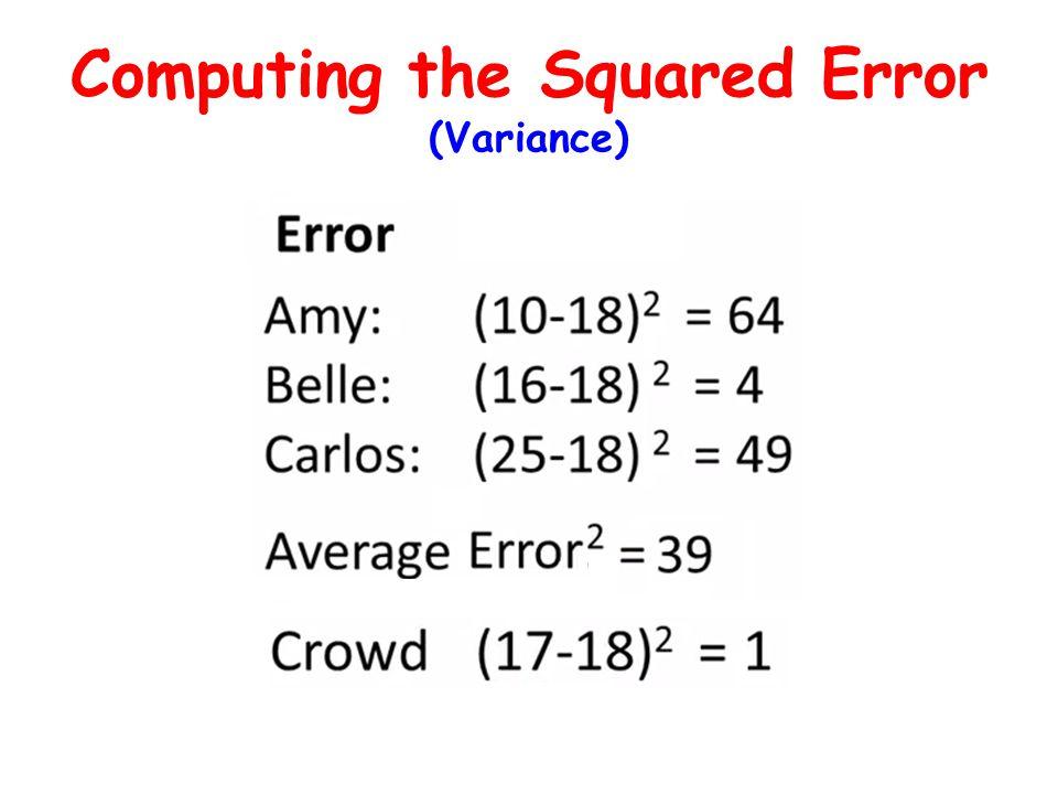Computing the Squared Error (Variance)