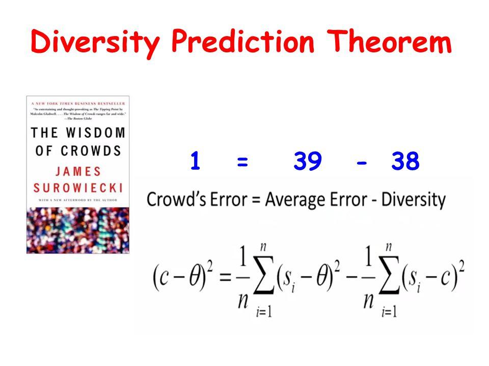 Diversity Prediction Theorem 1 = 39 - 38