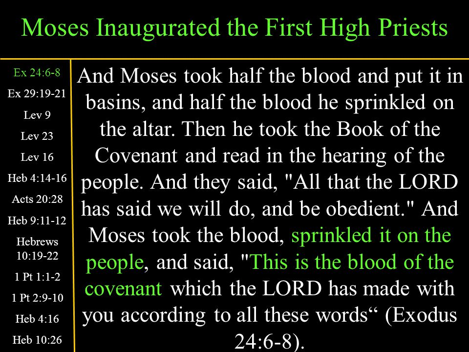 Jesus Is Our High Priest Today Seeing then that we have a great High Priest who has passed through the heavens, Jesus the Son of God, let us hold fast our confession.