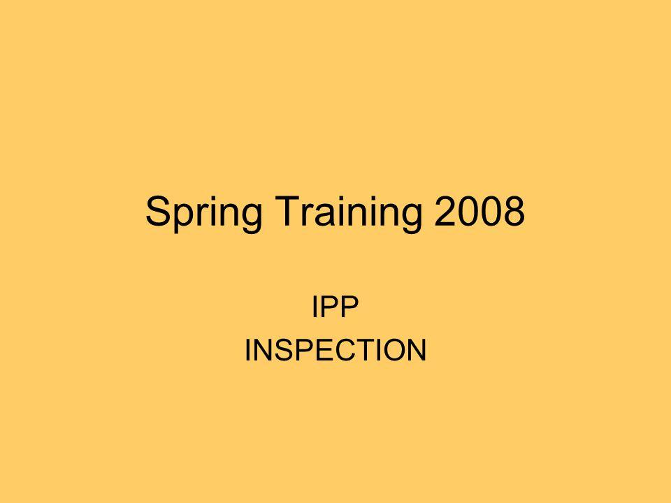 Spring Training 2008 IPP INSPECTION