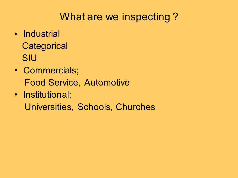 What are we inspecting .