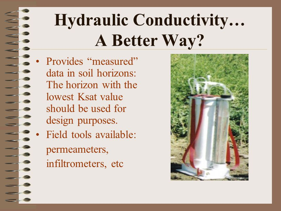 Hydraulic Conductivity… A Better Way.