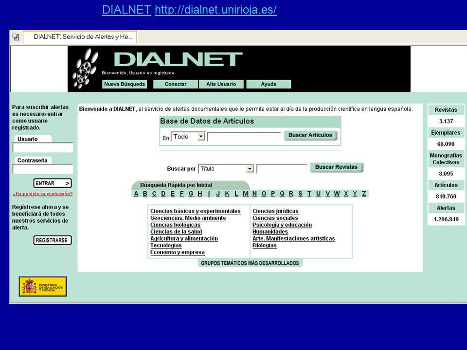 DIALNETDIALNET http://dialnet.unirioja.es/http://dialnet.unirioja.es/