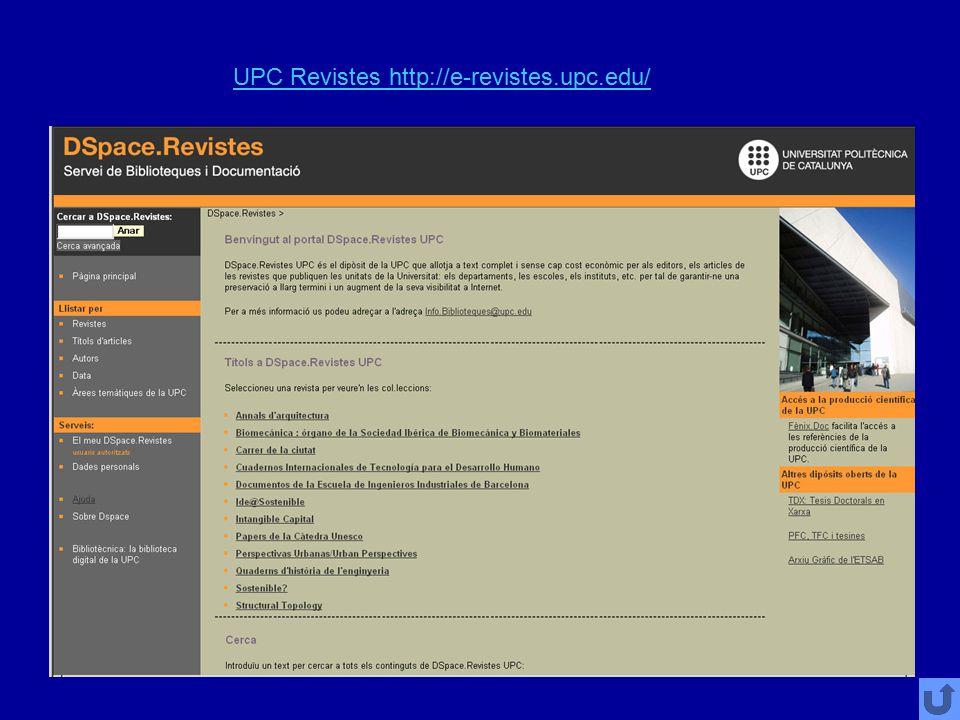 UPC Revistes http://e-revistes.upc.edu/