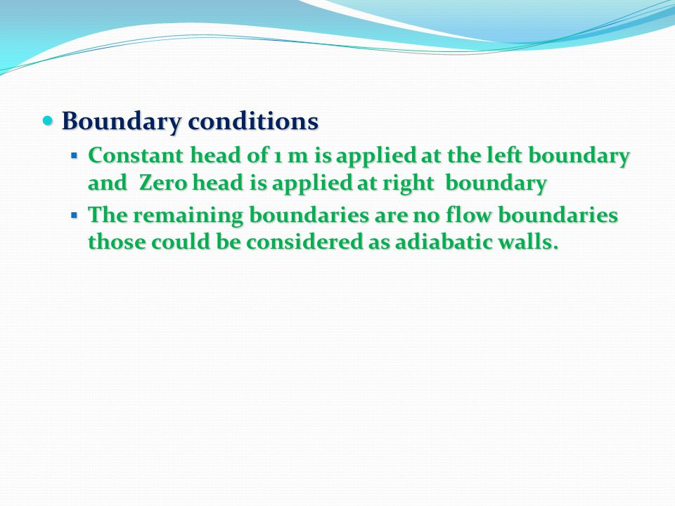 Case1: Areal Constant Density Solute Transport (Example at Rocky Mountain Arsenal) Introduction Introduction It consists of an areal model of a rectangular alluvial aquifer with a constant transmissivity and two impermeable bedrock outcrops which influence groundwater flow.