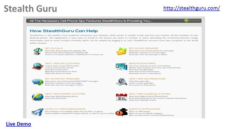 Stealth Guru http://stealthguru.com/ Live Demo