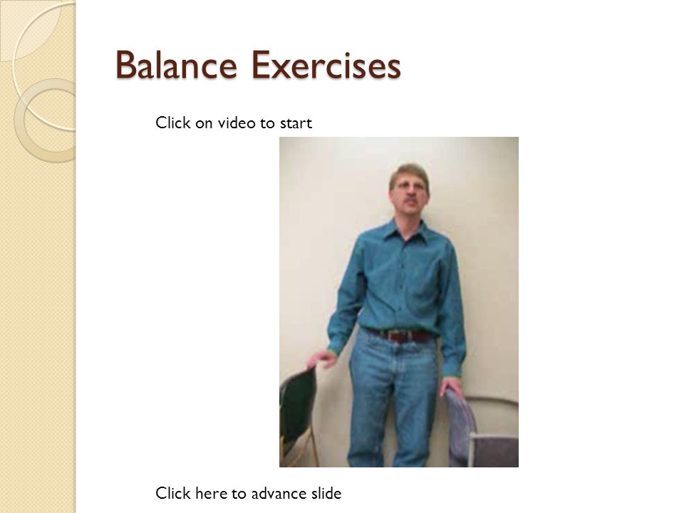 Resistance Bands Click here to advance slide Click on video to start
