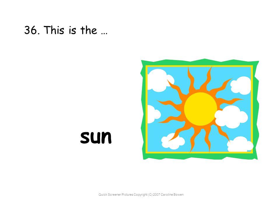 Quick Screener Pictures Copyright (C) 2007 Caroline Bowen 36. This is the … sun
