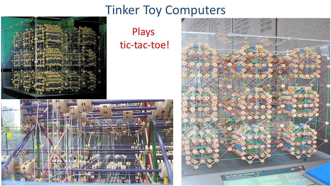 Tinker Toy Computers Plays tic-tac-toe!