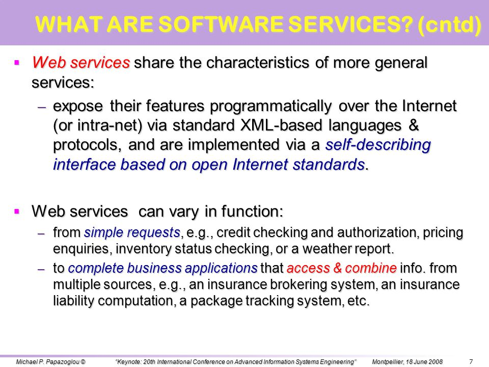 WHAT ARE SOFTWARE SERVICES.