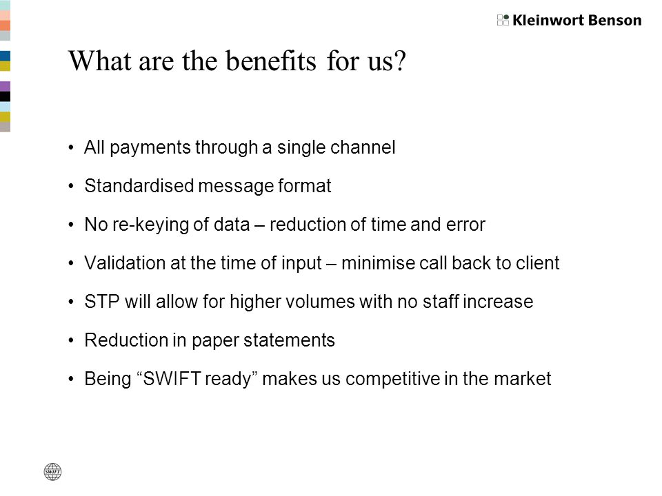 What are the benefits for us.